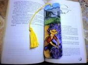 artisanat dart personnages provence sud lavande original : Marque-page La cueillette de la lavande