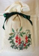 art textile mode fleurs sac ,a lavande fleurs sac broderie : Sac à lavande arrosoir