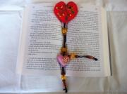 artisanat dart autres marque page amour feutrine coeur : Marque page coeur