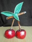 sculpture fruits papier mache cerises sculpture original : sculpture les cerises