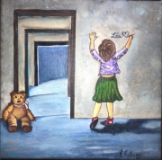 tableau personnages fillette enfance insouciance original : Insouciance
