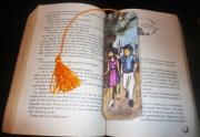 artisanat dart personnages automne couple marquepage original : Marque-page Ballade automnale