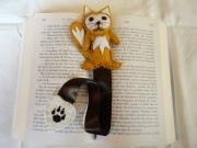 artisanat dart animaux marque page renard feutrine original : Marque page le renard