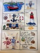 art textile mode personnages broderie bretagne mer point compte : Broderie la Bretagne