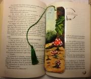 artisanat dart paysages amanite champignon foret nature : Marque-page Amanites II