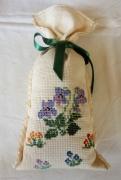 art textile mode fleurs sac ,a lavande fleurs broderie sac : Sac à lavande Fleurs