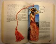artisanat dart personnages mer ocean corail femme : Marque-page beauté marine