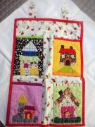 art textile mode architecture videpoche patch original sac : Vide-poche