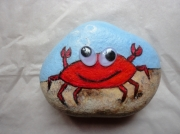 deco design animaux crabe cancer cailloux original : Le crabe