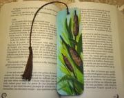 artisanat dart fleurs marque page roseau original plante : Marque page les roseaux
