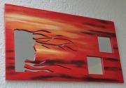 artisanat dart paysages nouveaute miroir creation originale : L'ile Rouge