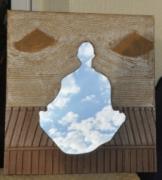 artisanat dart personnages nouveaute miroir carton : Meditation