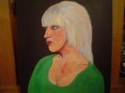 tableau personnages portrait feminin : femme au decolleté