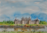 tableau paysages chateau tourisme : CHAMBORD Repro.