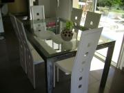 deco design table sejour metal verre : Table de séjour