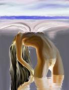 "digital art nus mer femme nue plage : "" Equinoxe """