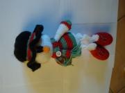 artisanat dart personnages amigurumi crochet laine : Bonhomme neige