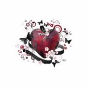 art numerique autres coeur rouge amour creation : Compo 28