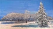 tableau : Sapin en hiver