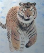 tableau animaux tigre felin tiger feline : Tigre