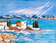 tableau paysages ratexpogaleriedec vacancesparfummer bateauboisameublem idee cadeaunoelann : 81   Village Grecque