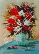 tableau fleurs artisteartdecohui vacancesparfumpers ameublementferronne idees cadeauxnoelm : 174   Bouquet des champs au vase claire