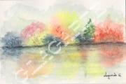 tableau paysages artisteartdecohui vacancesparfumpers meubleferronneriep cadeaunoelmariage : 15 aquarelle +cadre