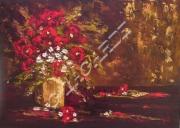 tableau fleurs idees cadeauxnoelm ameublementferronne vacancesparfumpers artisteartdecohui : 245  Le vase aux feuilles d'or