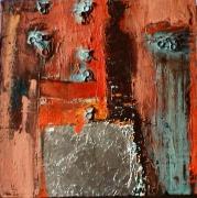 tableau personnages silhouette solitude : Homme assis au bord de la Lune