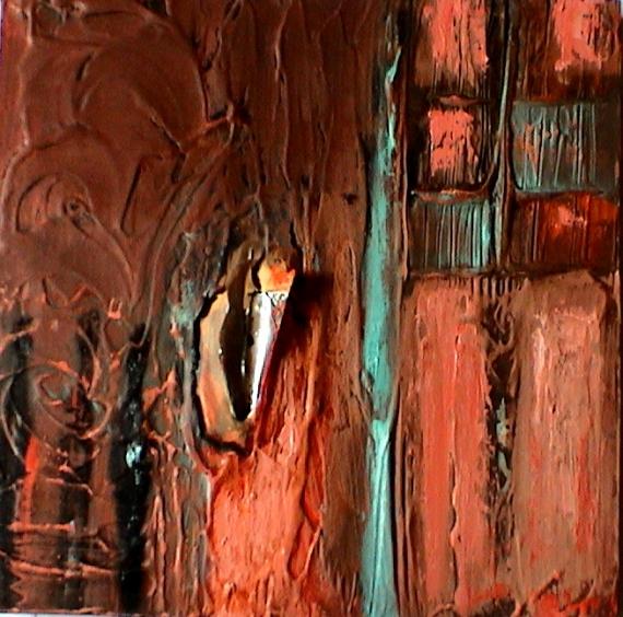 TABLEAU PEINTURE Silhouette Musique femme Personnages Peinture a l'huile  - Dans cet horizon souterrain