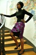 """art textile mode abstrait jupe asymetrique coton mode tissu wax : jupe """"Tu me gênes"""""""