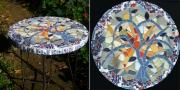 artisanat dart mosaique table arbre : l'arbre bleu