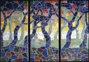 artisanat dart paysages mosaique pins : Pins