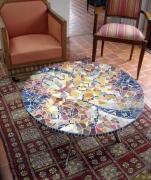 artisanat dart abstrait mosaique table : table n°3