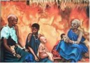 tableau : VILLAGE MASAI KENIA