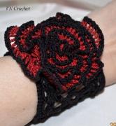 """bijoux autres piece unique cadeau stvalentin glamour : Bracelet """"Rouge et noir"""""""
