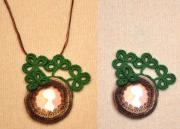 bijoux message photo stvalentin : Broche-pendule« Pour  toi »