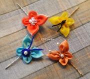 """art textile mode autres cheveux coiffure decoration : Épingles à cheveux """"Papillons"""""""
