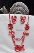 """bijoux bijoux piece unique stvalentin cadeaux : Parure complète """"La vie en rose"""""""