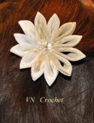 art textile mode fleurs : Barrette « Nuance »