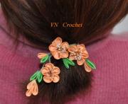 autres fleurs coiffure decoration romantique : Fleurs de cerisier - élastiques