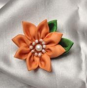 """art textile mode : Épingle à cheveux """"Orange"""""""