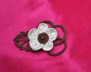 """art textile mode fleurs : Épingle à cheveux """"Sophie"""""""