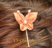 """art textile mode autres : Epingle à cheveux """"Papillon"""""""