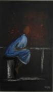 tableau personnages enfant ecole afrique : Khamlia