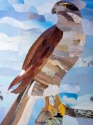 tableau animaux aigle animaux tableau marqueterie : Marqueterie papier