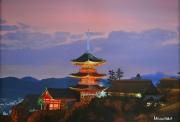 tableau paysages japon paysage temple zen : Kiyomizu-dera temple