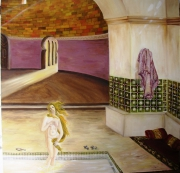 tableau scene de genre venus architecture tapis bassin : Vénus
