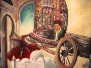 tableau scene de genre nessej el 7houma tapis couleur : El houma el 3arbi
