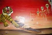 tableau animaux guerre tigre escalier surrealisme : la guerre